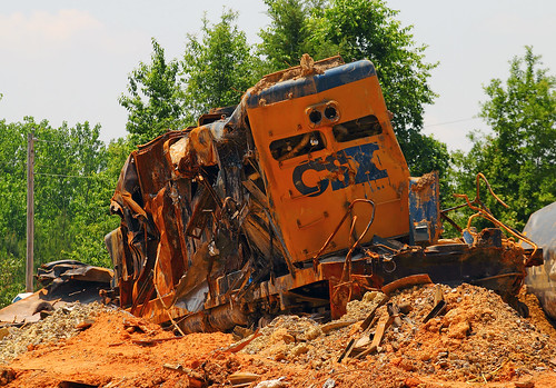 Csx Wrecked Train 2 Flickr Photo Sharing