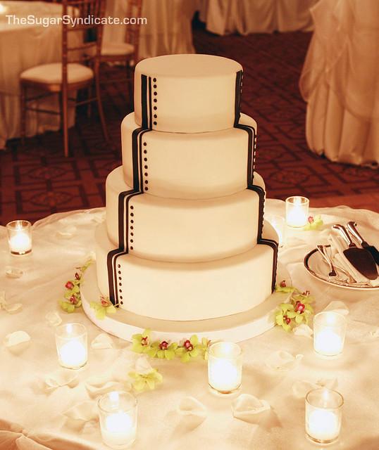 Art Deco Grooms Cake : Art Deco Wedding Cake ? The Sugar Syndicate Custom Cakes ...