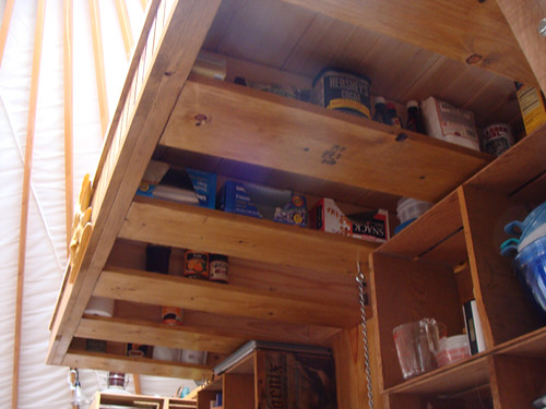 Yurt Kitchen Storage The Loft Overhang Above The Kitchen