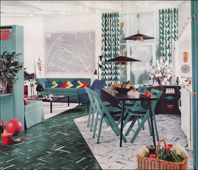1950s modern design living room by armstrong source for Armstrong design a room