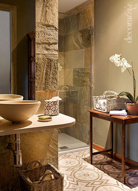 Baño de estilo rústico  Flickr - Photo Sharing!