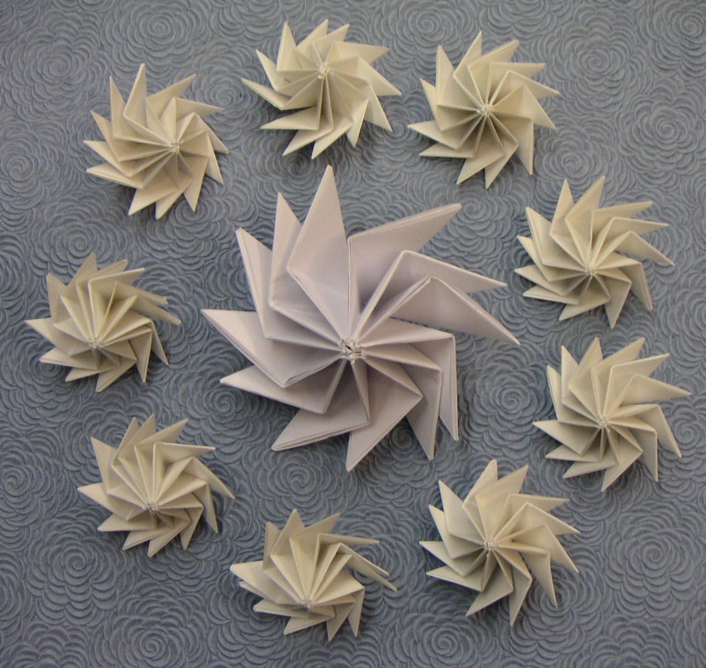 Origami spinning top | Model Kunihiko Kasahara Diagram in ... - photo#43