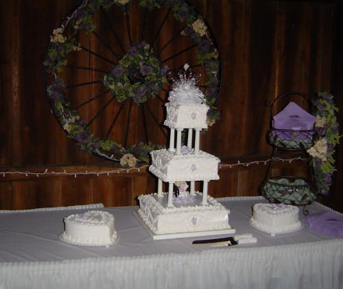 Tier Square Wedding Cakes Pictures