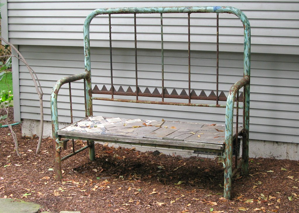 Garden Bench Headboard And Footboard Bed Made Into A