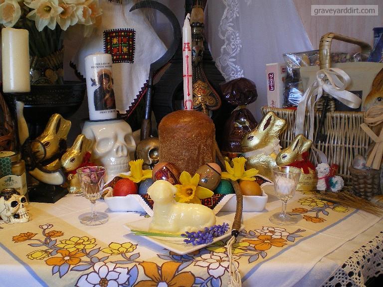 Easter Morning Paska The Cylinder Loaf Of Bread