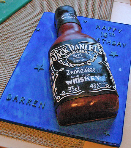 Birthday Cake (073) - Jack Daniels Bottle  by Scrumptious Cakes by ...