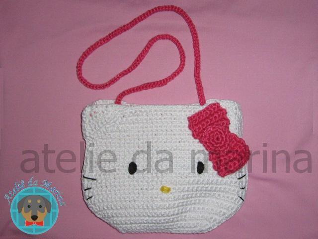 Bolsa De Ombro Hello Kitty : Bolsa de croch? hello kitty forrada e