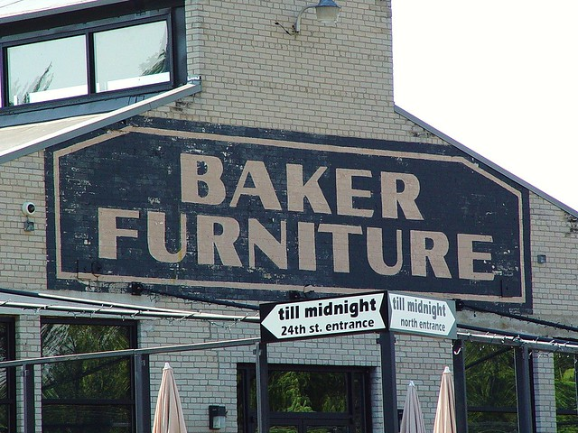 ... Baker Furniture Brick Painted Sign On Building   Holland, Michigan    6/12/