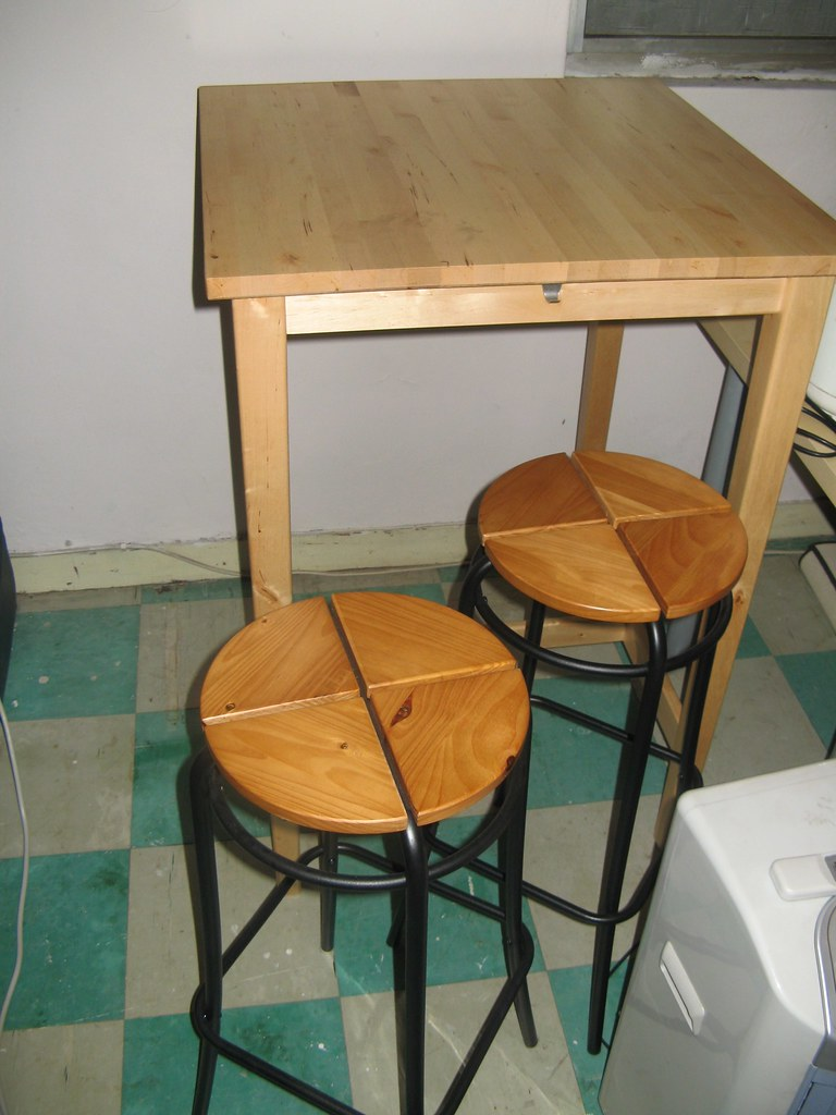 ikea bjorkudden bar table and 2 stools table 1800 nt obo flickr. Black Bedroom Furniture Sets. Home Design Ideas