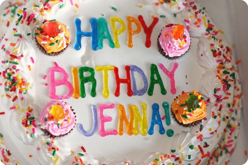 Happy Birthday Jenna Tcby Frozen Yogurt Cake Decorated