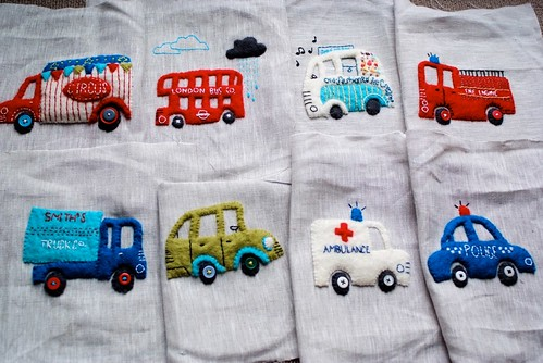 All 8 finished appliques | by drawnbyrebeccajones