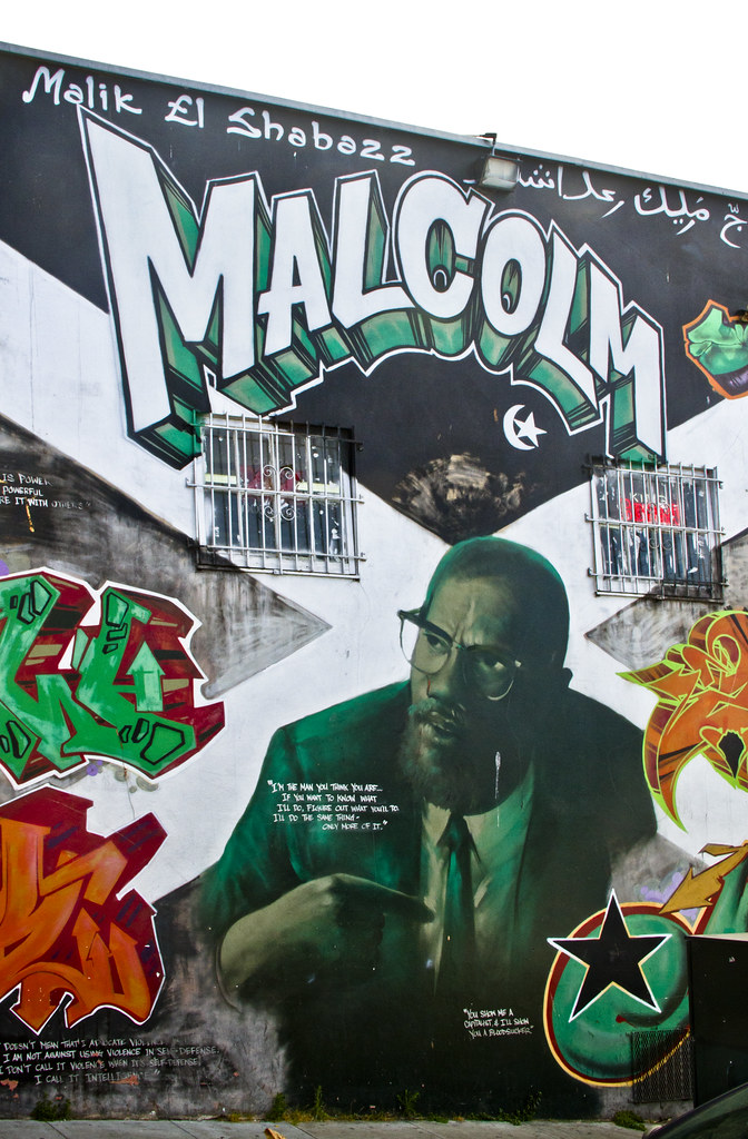 Malcolm x malcolm x mural bayview hunter 39 s point for Malcolm x mural