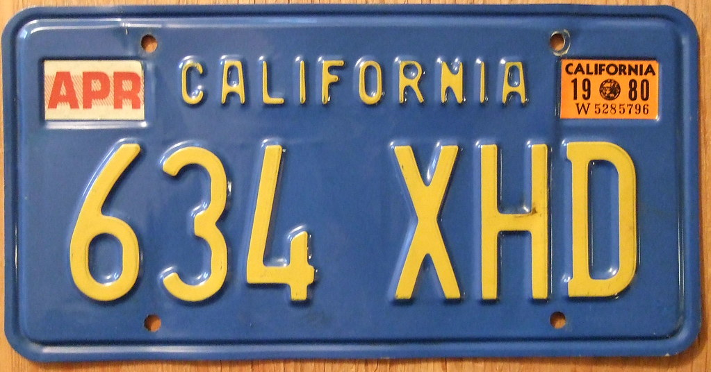 california 1980 license plate blue baseplate jerry woody flickr. Black Bedroom Furniture Sets. Home Design Ideas