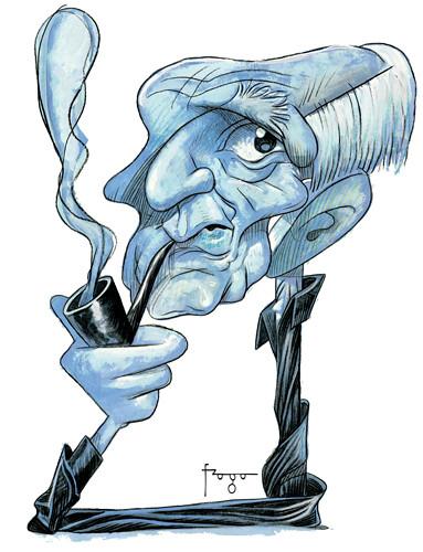 Resultado de imagem para filósofo Zygmunt Bauman caricatura