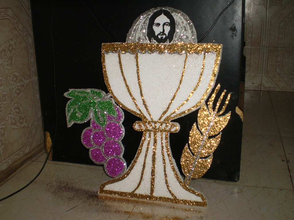 First holy communion backdrop decoration for Altar decoration for first holy communion