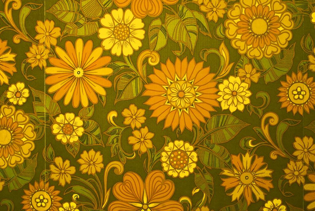 Sixties / Seventies Era Floral Print Wallpaper - Brian Eno ...