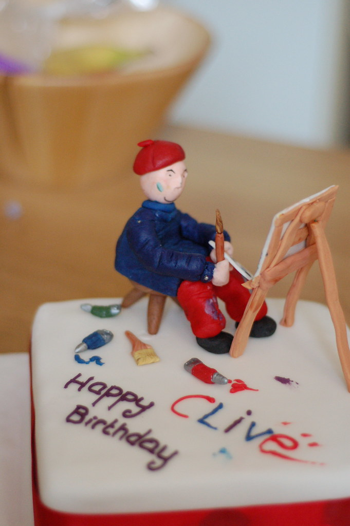Artist s birthday cake A cake I made for a work ...