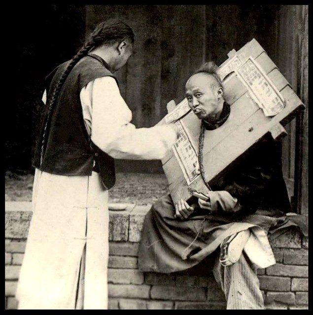 Criminal Being Fed By A Compassionate Friend In Old China