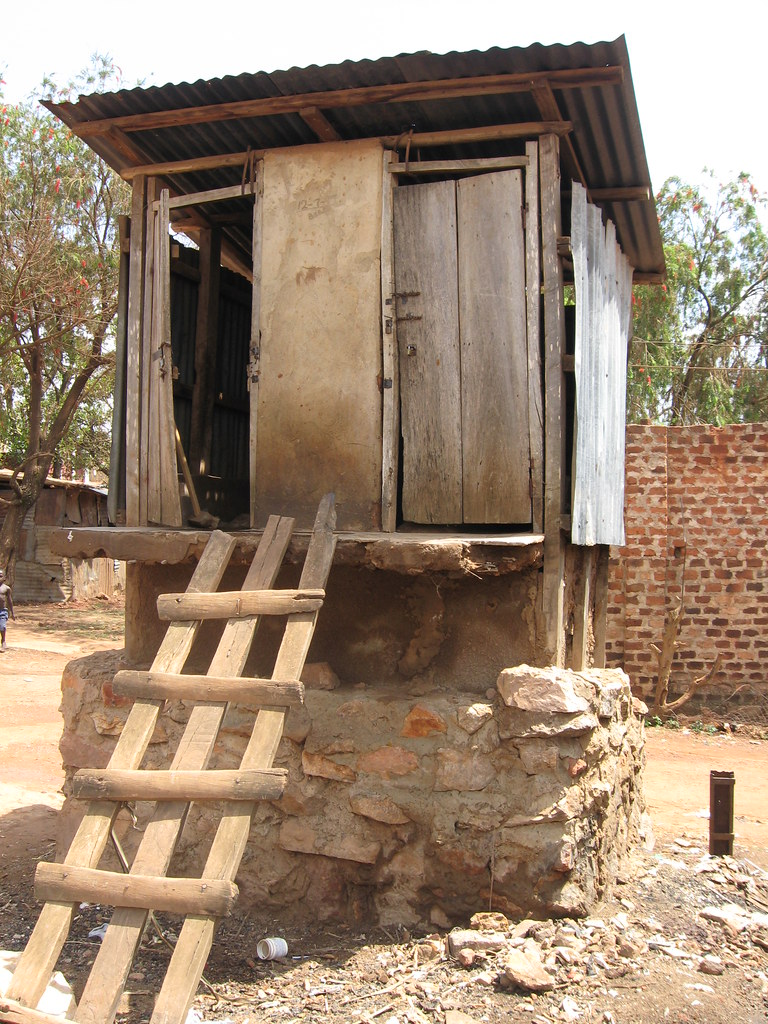 Typical Pit Latrine In Kampala Slums