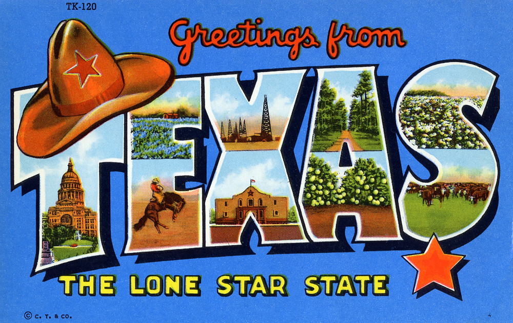 greetings from texas  the lone star state
