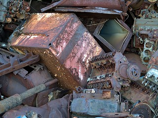 Cylinder Blocks on a Scrap Heap (Tarentum, PA) | by takomabibelot