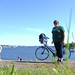 My bike and I in lovely Helsinki