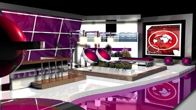 Modern media studio for tv show dar works co for for Tv set interior design