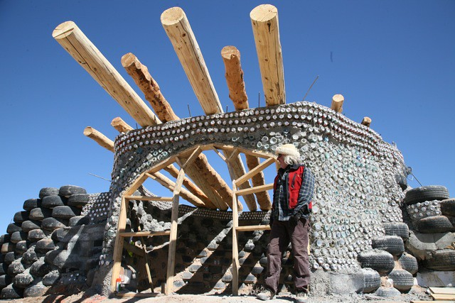 Eve Earthship Project Roof Beams Michael Reynolds Flickr