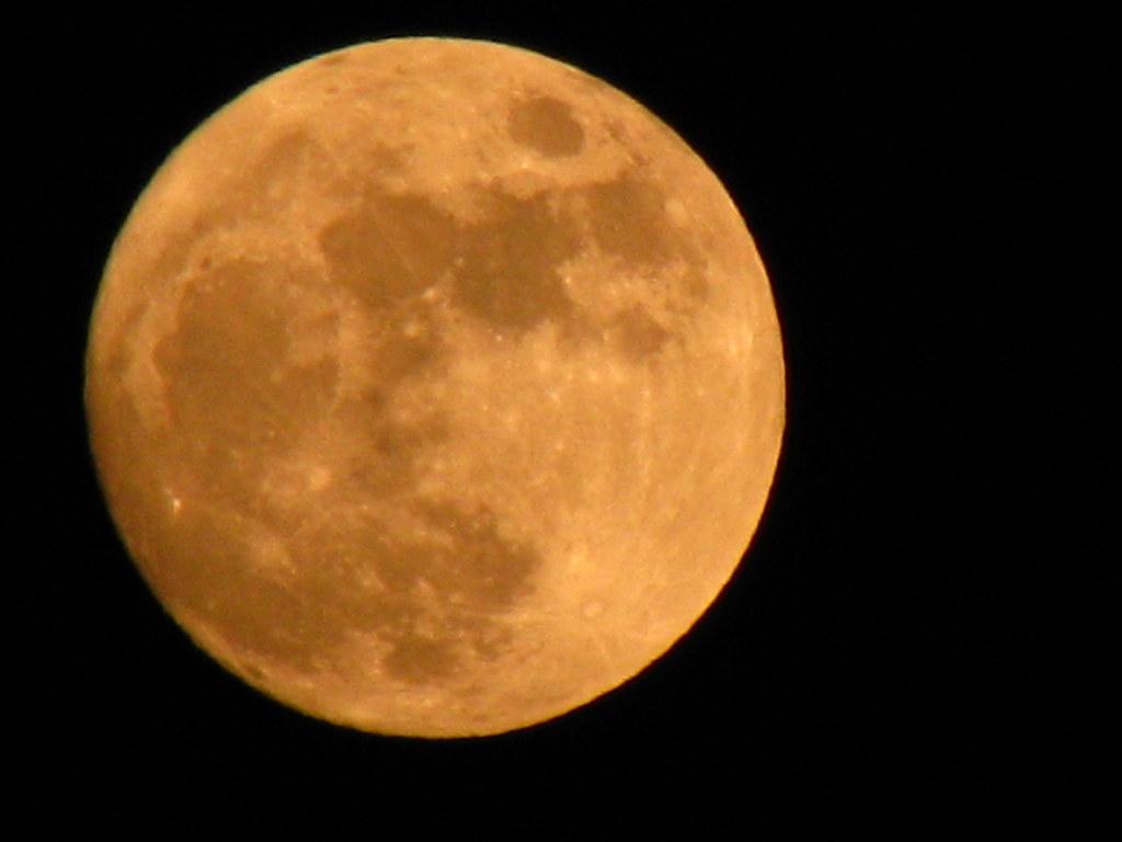 Full Strawberry Moon Full Moon Rises Over The Ocean