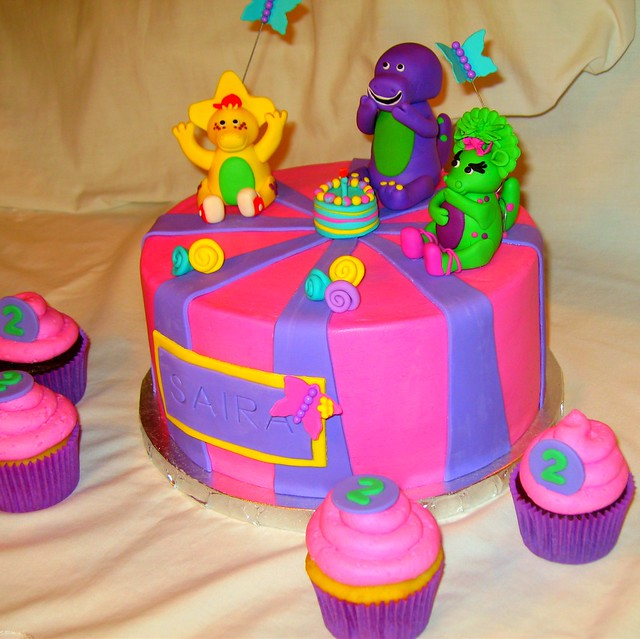 Bj S Cake Decoration Packet : Barney & Friends Birthday Flickr - Photo Sharing!