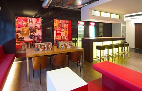 Red restaurant interior design baliboro flickr