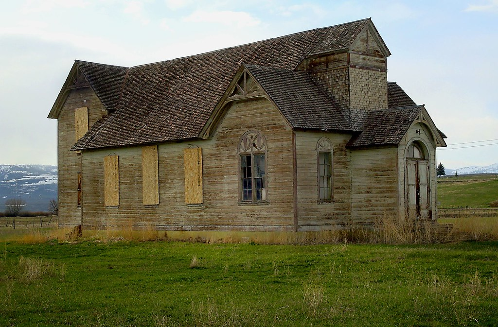 Old Wooden Church North Of Paris In Ovid Idaho