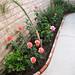 Brick lined garden planter 2