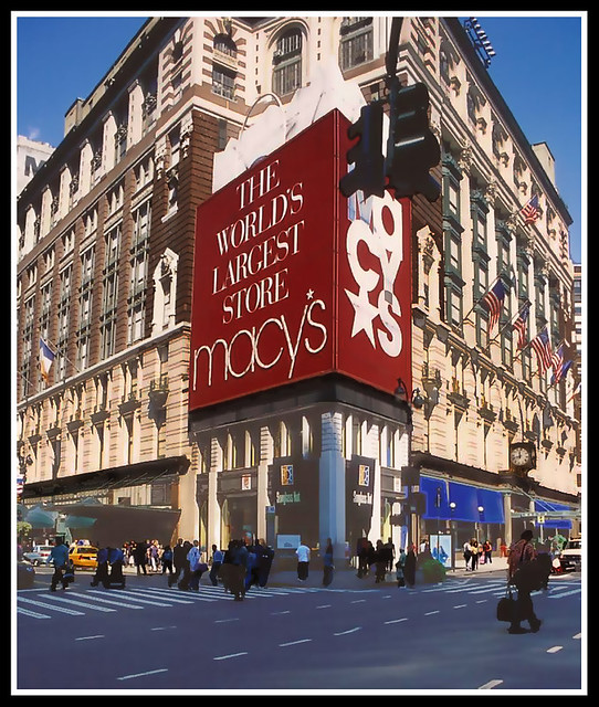 The Famous Macys Department Store In New York City
