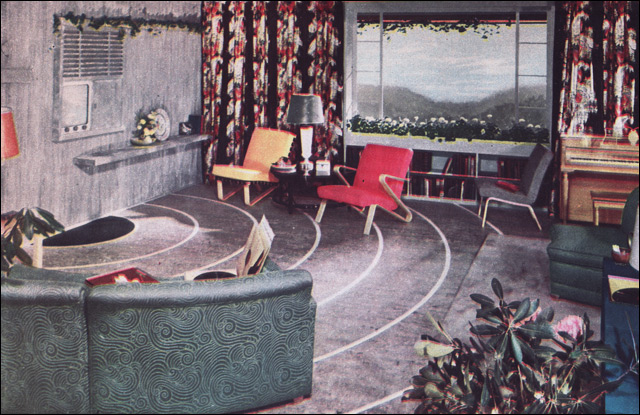 1950s living room design nairn linoleum source - 1950 s living room decorating ideas ...