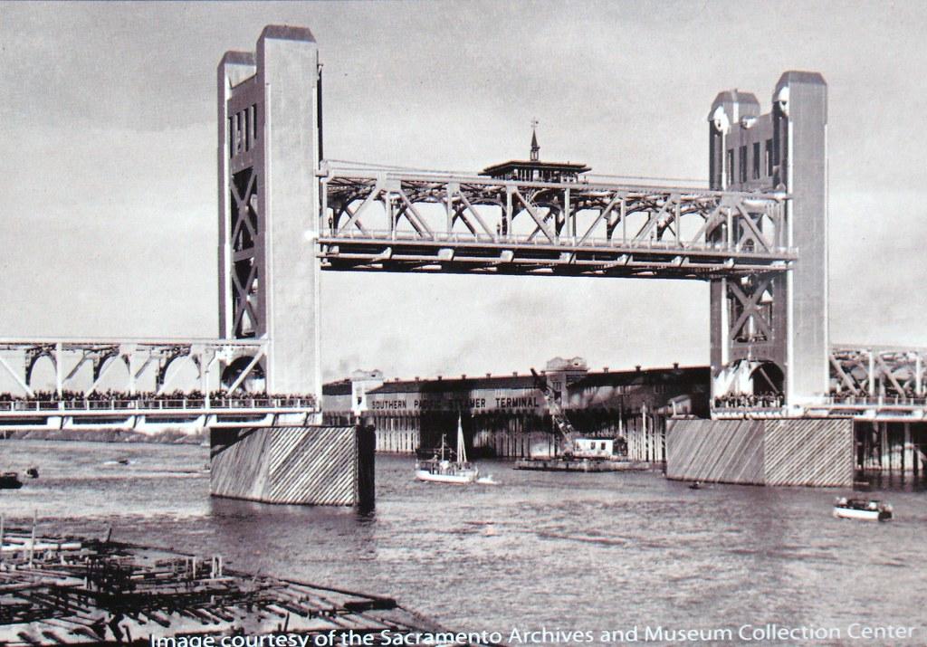 tower bridge sacramento california 1940 this picture is flickr. Black Bedroom Furniture Sets. Home Design Ideas