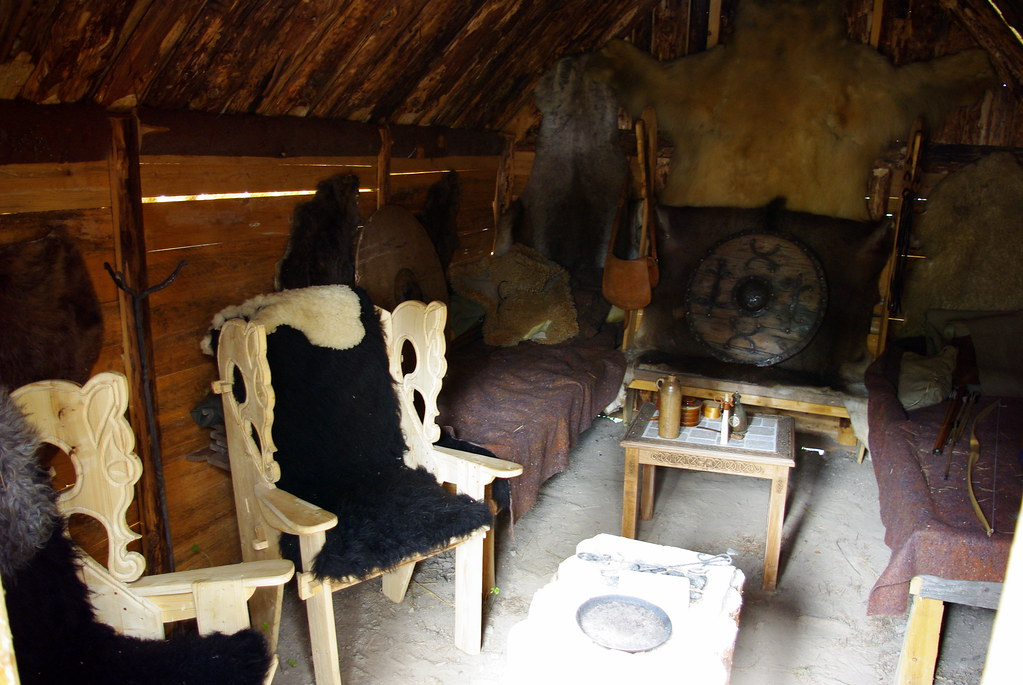 Inside A Viking House Actually A Small Cabin That A