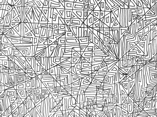 Line Drawing Patterns : Simple pattern line drawing