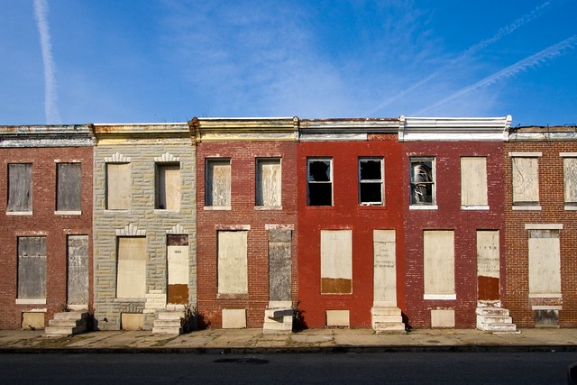 abandoned rowhouses baltimore  md www gettyimages com