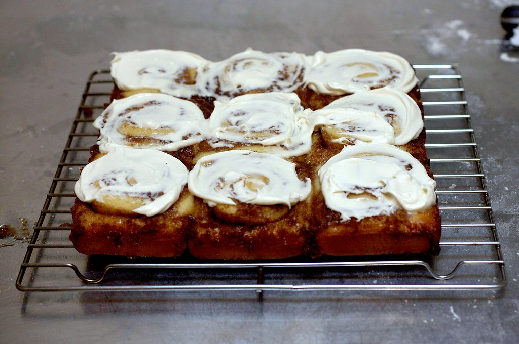 messy is good | Cinnamon Swirl Buns with Cream Cheese Glaze ...