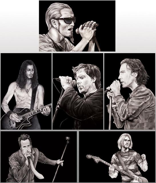 Grunge music postcard set   Postcard set on SALE for $3.50 ...  Grunge