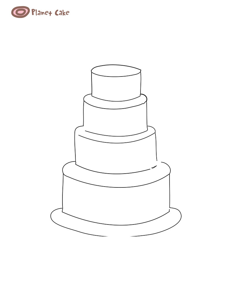 4 Tier Round Cake Template See Full Size Image Here