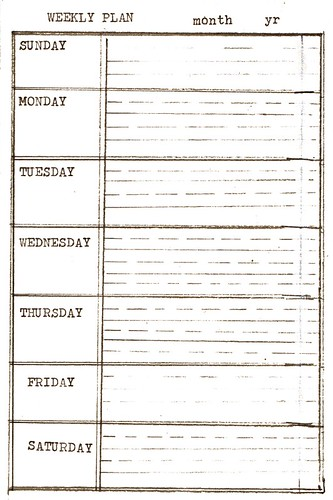 Diy Calendar Planner Template : Diy planner weekly plan download ahhh design