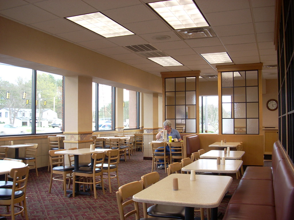 Wendy s interior the of a restaurant in