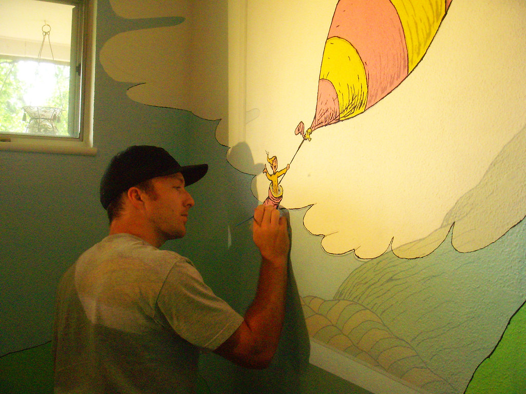 Me painting dr seuss mural we decided to do a dr seuss nu flickr amipublicfo Images