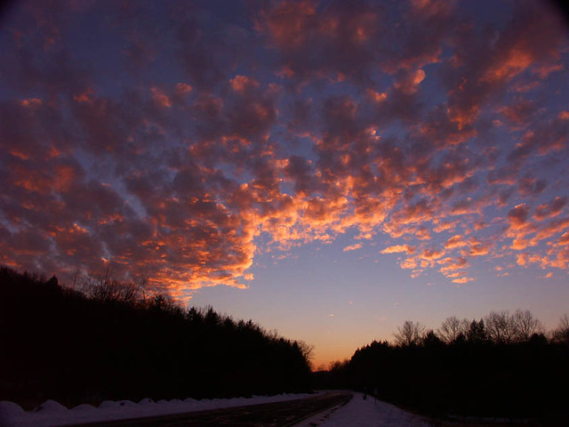Sky After Sunset On Seven Lakes Drive In Sloatsburg