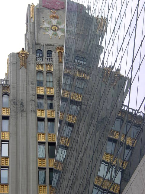 Nyc 9 West 57th Street Ampico Building Reflected In The
