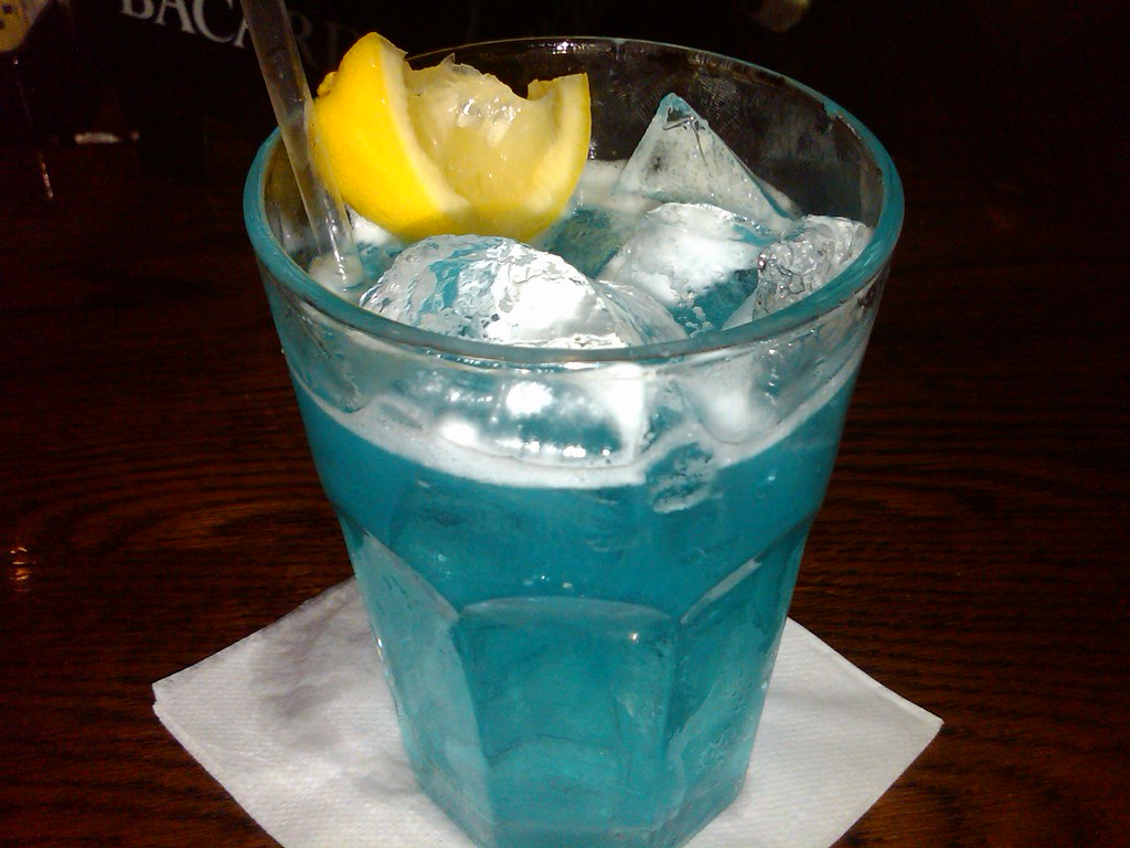 yummy blue long island ice tea