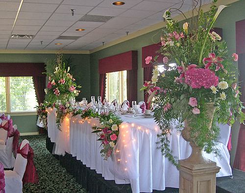 Wedding Reception Head Table Flowers