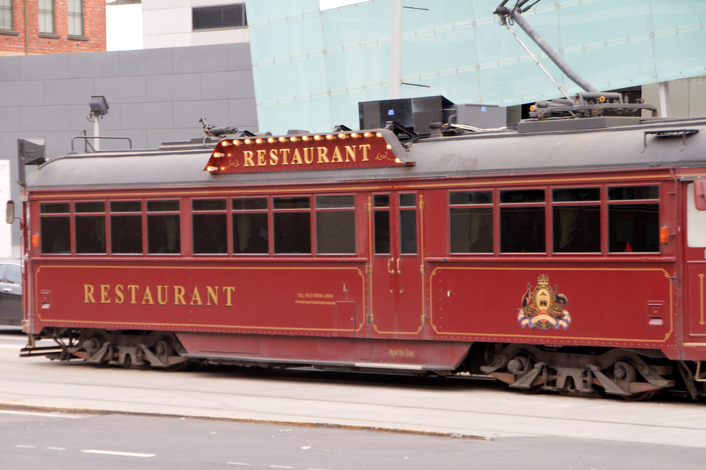 tram restaurant in melbourne check out my travelblog at. Black Bedroom Furniture Sets. Home Design Ideas